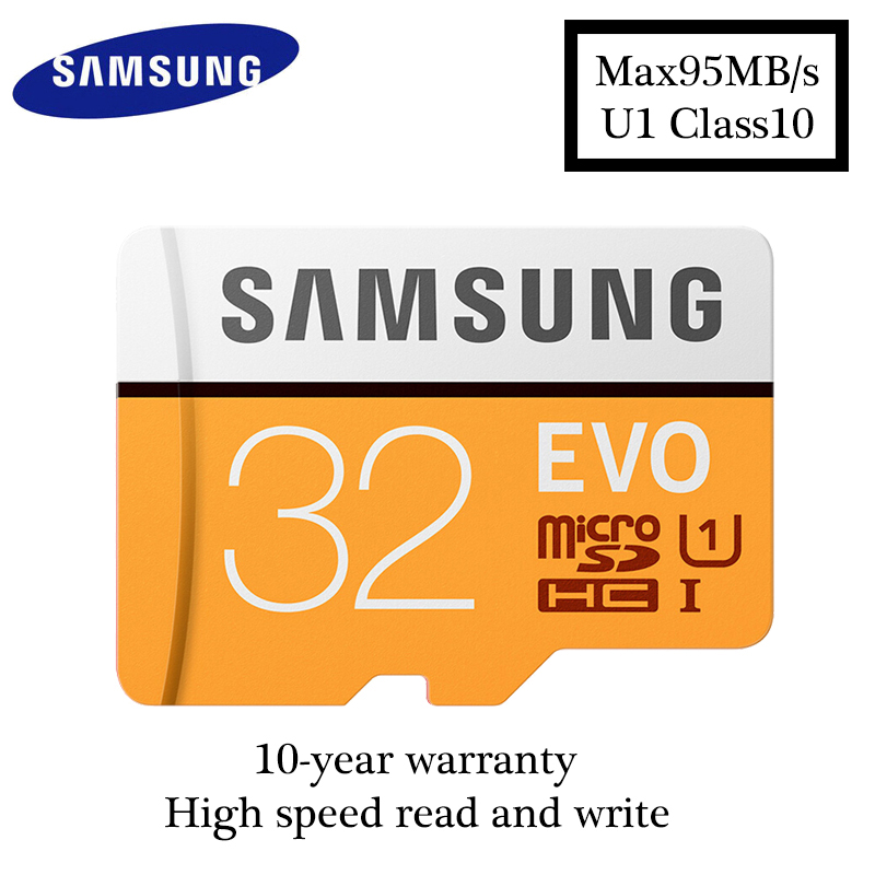 Samsung EVO MicroSD 32GB Memory Card UHS-I 100MB/S microSDHC Class10 TF Card for Smartphon