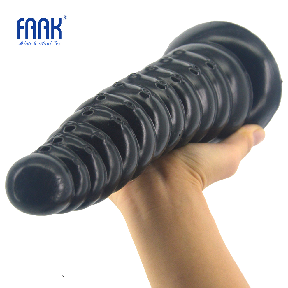 Buy FAAK long anal plug huge butt stopper sex toys anal dildo suction cup adult products anus prostate massage masturbation