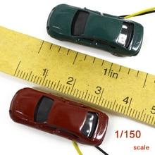 Teraysun 50pcs led scale model car miniatre resin plastic 1:150 light