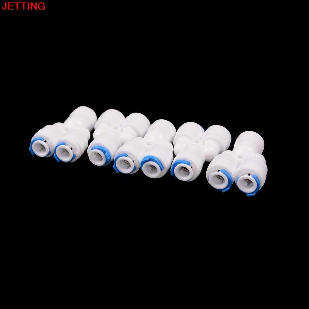 "1/4 ""OD Tabung Y Jenis PE Pipa Fitting Selang Plastik Cepat Konektor Akuarium RO Filter Air Reverse Osmosis System 5 Pcs"