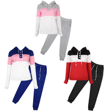 KLV Women Casual Tracksuit Hoodie Sweatshirt Sweater Pants Jogger Outfits Set