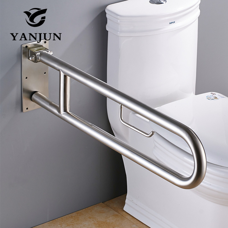 YANJUN 304 Stainless Steel Folding Grab Bar Disability Grab Rail ...