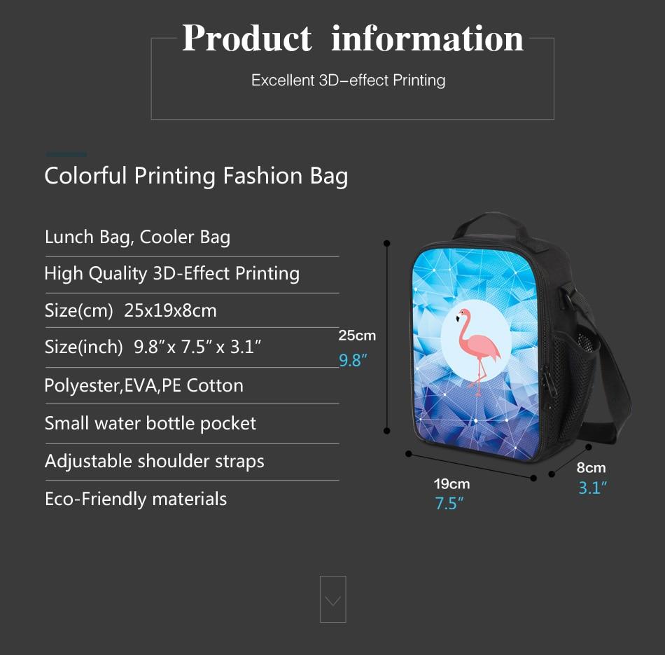 ZRENTAO Personalizar sacos isolados almoço sacos 3D