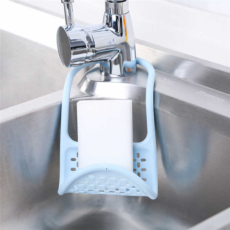 Image 3 - Removable Kitchen Storage Rack  Towel Soap Dish Holder Convenient Kitchen Bathroom Sink Wooden Dish Storage shelf Holder Rack Ro-in Racks & Holders from Home & Garden