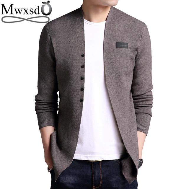 Mwxsd M-6XL Plus big size Men casual cotton cardigan sweater male Slim Fit  soft knit cardigan big size 4xl 5xl a84cf20e0864