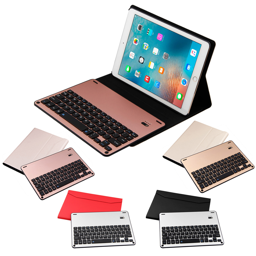 New Bluetooth Wireless Keyboard + PU Leather Case Cover for iPad air2 iPad Pro 9.7inch Tablet Keyboard for ipad pro 12 9 keyboard case magnetic detachable wireless bluetooth keyboard cover folio pu leather case for ipad 12 9 cover