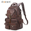 2016 The New Large Capacity PVC Material College Vintage Shoulder Women's Backpack Students Travel Computer Leather Bag Mochilas