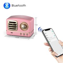 Portable Bluetooth Speaker Retro Mini Wireless Radio USB/TF Card Music Player HIFI Subwoofer