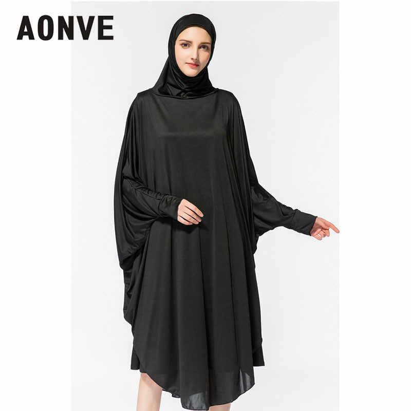 05b87e2484 Aonve Hijab Abaya Women Islamic Body Head Covering Kaftan Muslim Eid  Festival Prayer Clothing Femme Formal