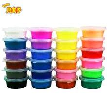 36 warna / kotak super ringan tanah liat Cahaya Clay Slime Non-beracun / dempul Magnetik Polimer memantul bermain adonan