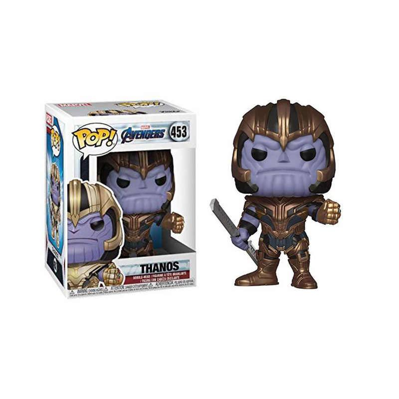 Funko pop quente marvel avengers endgamethanos 453 # vinil figura de ação coleção modelo brinquedos para crianças presente natal com caixa
