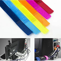 6PC/lot  Multi-Function Colorful Reusable Magic Tape Cord Winder Cable Holder Ties Wrap Wire Band Fastener Home Office Use