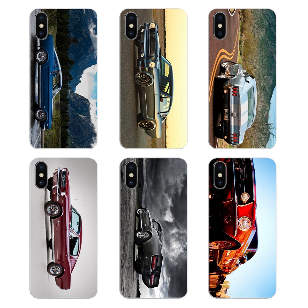 Ford Mustang 1966 Super Car 4K Wallpaper Transparent Soft Covers For iPod Touch iPhone 4 4S 5 5S