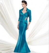Neue 2016 Abendkleid Mit Jacke Falten Robe De Soiree lange Formale Kleider Für Hochzeit Promi Guest Kleid Plus größe