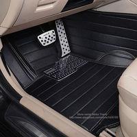 Пользовательские подходят автомобильные коврики для Volkswagen Beetle СС, EOS Golf Jetta Passat Tiguan Touareg 3D автомобиль Стайлинг коврики с облицовочными встав