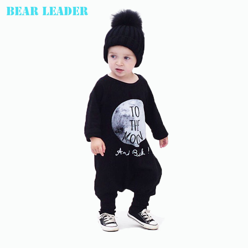 Bear Leader Baby Boy Clothes Autumn Cotton Baby Boys Clothing Set Baby Rompers Clothes One Piece Jumpsuit TO THE MOON Cartoon