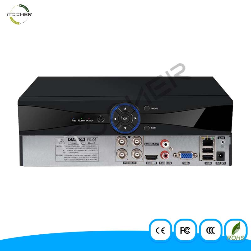 4CH 1080P 6 in 1 AHD DVR Video Recorder Hybrid DVR NVR HVR for AHD IP TVI CVI Camera CCTV System H.264 VGA HDMI For Camera P2P ninivision ahd 4 channel 1080p hdmi 1080p 4ch hybrid ahd dvr hvr nvr onvif for security ip camera p2p function cctv dvr recorder