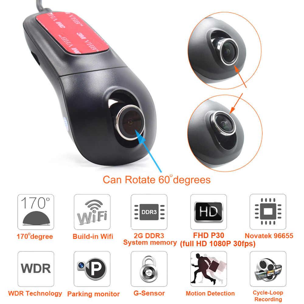 XCGaoon A8 1080P HD Wifi Автомобильный регистратор DVR цифровой видео регистратор тире камера ночная версия Novatek 96655 поворот 60 градусов