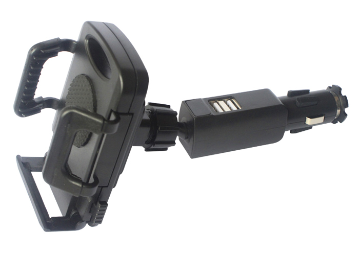 Rotary 2A Dual USB Mobile Phone Car Lighter <font><b>Charger</b></font> Holder Stands For BlackBerry Aurora,<font><b>LeEco</b></font> Le Pro3 Elite,Oppo F3 Plus