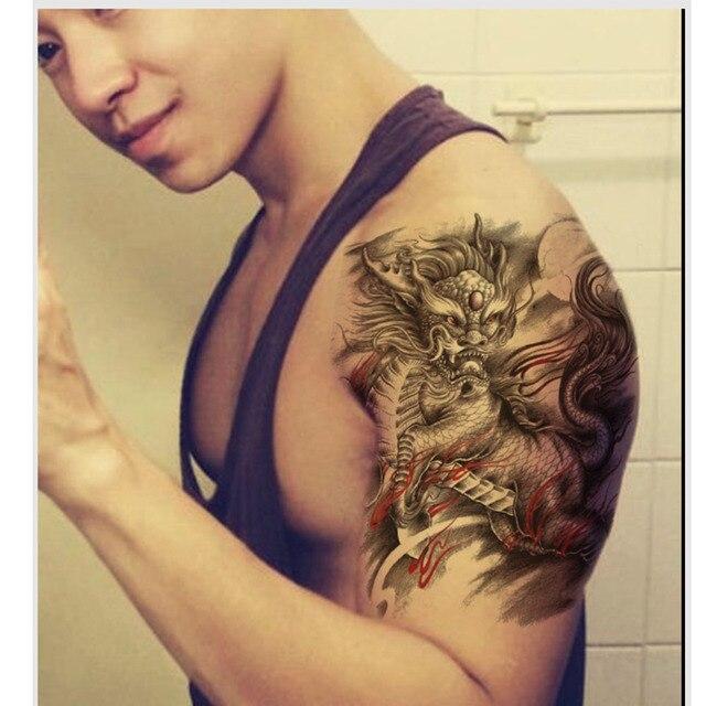 1 Unids Fresco Estampado De Animales Etiqueta Engomada Del Tatuaje