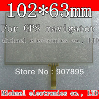102X63 105 65mm 101X62mm 4 3 Inch 4 Wire Resistive Touch Screen Panel Digitizer For GPS