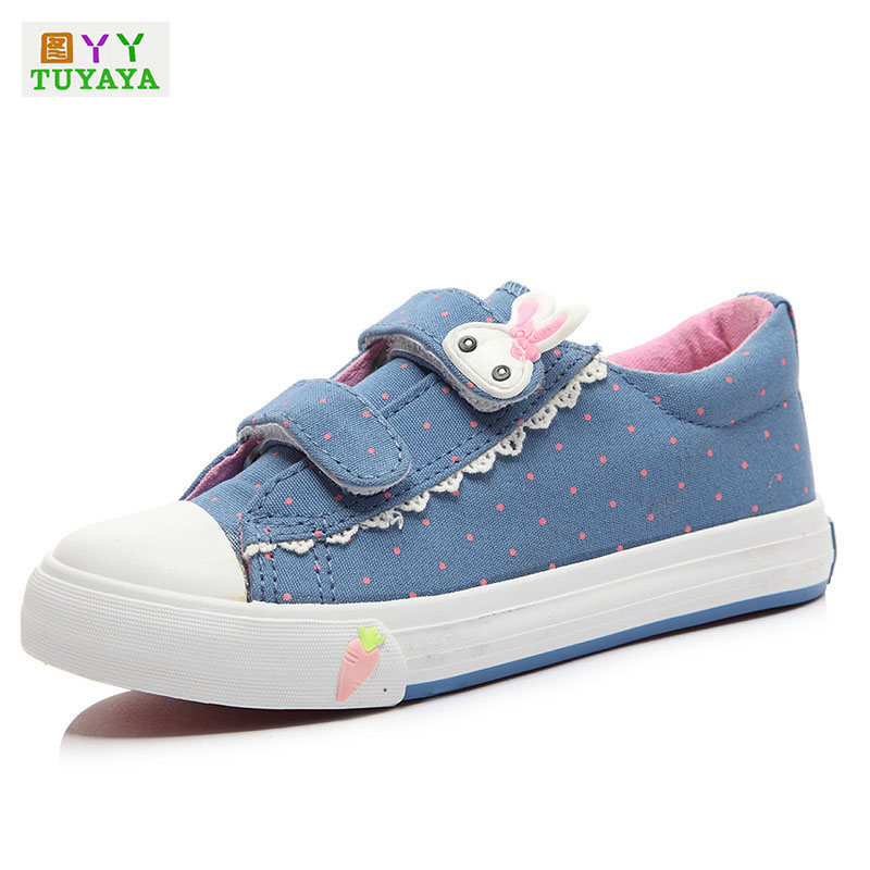 Children School Shoes Cartoon Rabbit Canvas Sneakers Kids Shoes for Girl Children Trainers Boys Sneakers Girls Canvas Shoes Kids