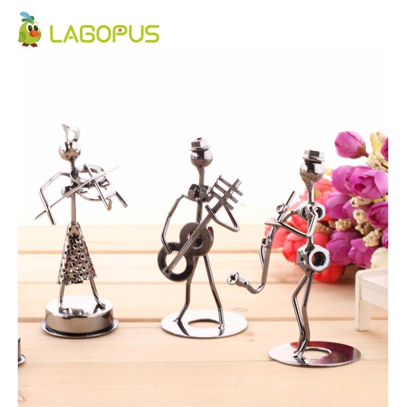 Useful Lagopus Figurine Miniatures Metal Music Band Small Iron Man Craft Ornaments Figurine Home Cafe Counter Office Book Shelf Decor Toys & Hobbies