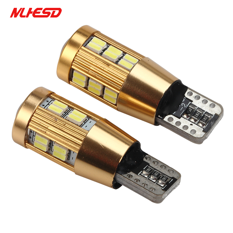 100Pcs/Set Car Dome Reading Light Auto Licence Plate Light DC 12V Car-styling <font><b>T10</b></font> <font><b>3014</b></font> <font><b>30SMD</b></font> 22SMD Light Source Clearance Lamp image