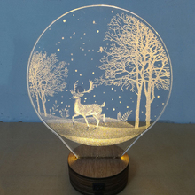 3D Dimensional Night Light Moon with Deer –  Wolf