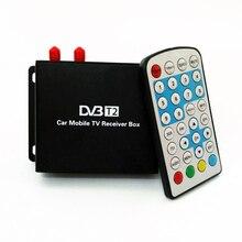 Totalmente SD/HD 1080 P DVB-T2 Móvel de Alta Velocidade Do Carro TV Digital tuner Tuner Receiver BOX Para A Rússia com a mobilidade & active antena