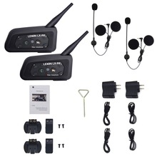 With Metal Clip Lexin 6 Riders R6 1200M BT Interfone Motorcycle Helmet Bluetooth Intercom Walkie Talkie