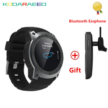 S958 GPS Multi-função Bluetooth Heart Rate Monitor de Fitness Esporte Assista MTK2503 Rastreador Relógio Inteligente Suporte Cartão Sim Card + fone de ouvido