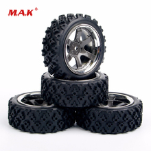 1/10 Scale Rally Tires and Wheel Rim with 3mm Offset 12mm Hex fit HPI HSP RC Off Road Racing Car Accessories