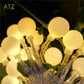 2017 NEW 4M 40 LED Colorful Ball String Lights AA Battery Operated Fairy Party Wedding Christmas Flashing LED Home Decoration