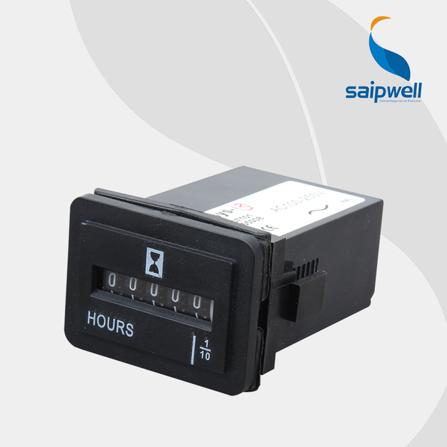 saipwell 6 digits ac100 250v dc10 80v engine working hour totalizer