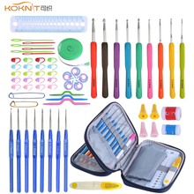 KOKNIT 1 set 68 pcs DIY Knitting Crochet Hooks Set Home Use Sewing Tool Hand Weave Accessories With Storage Bag