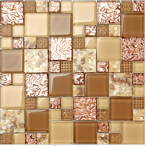 цены NEW! FREE SHIPPING!Crystal Glass mixed 3D Mosaic Tile Wallpaper stick kitchen/TV backsplash bathroom countertop home decor,LSBK6