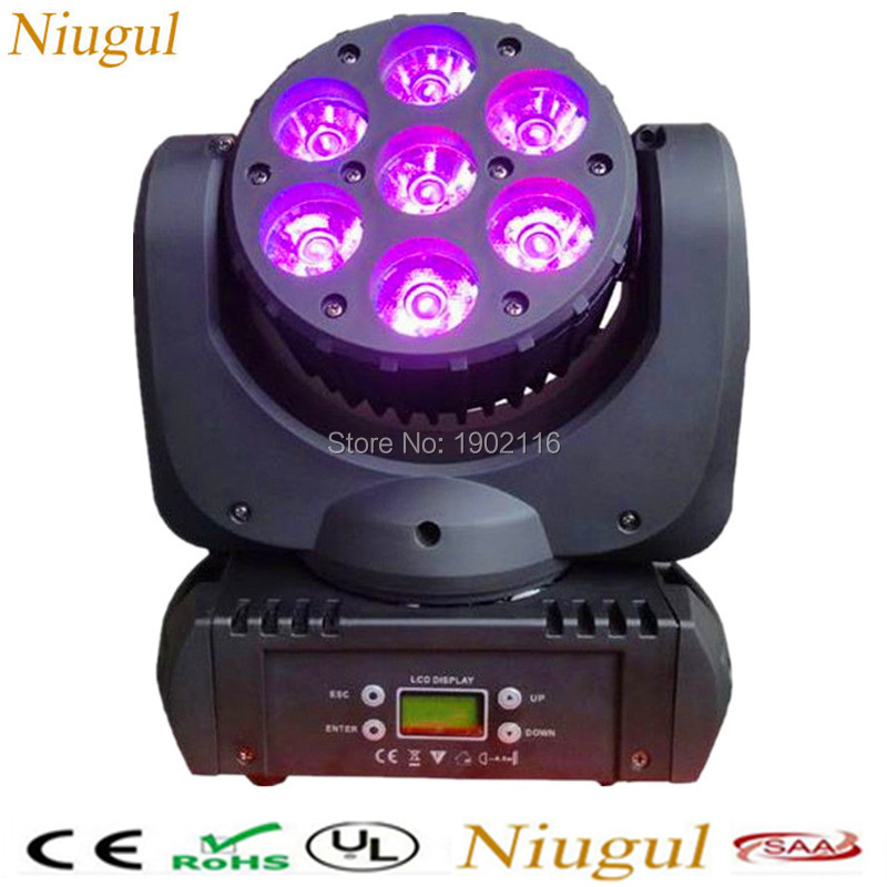 High quality RGBW 7X12W LED Moving Head Light/LED Beam/DMX512 stage light/DJ Disco Party Effect Lighting /LED wash beam lights самокат ridex invader 230 200