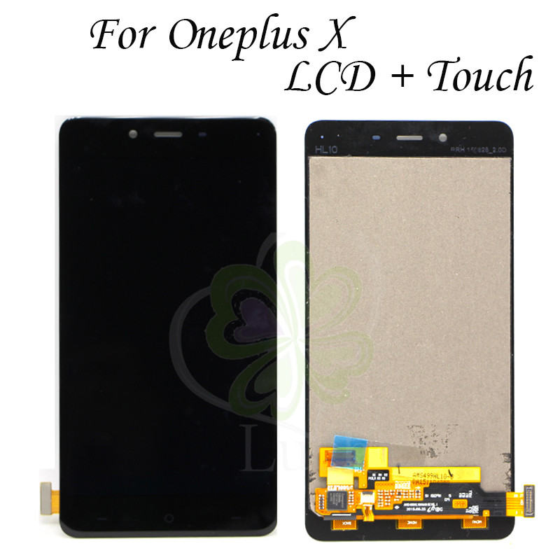 1920x1080 5 0 lcd For Oneplus X LCD Display Touch Screen 100 New Digitizer Glass Panel