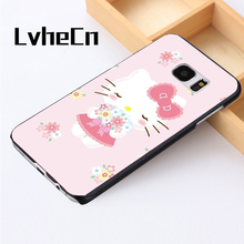 LvheCn phone case cover For Samsung Galaxy S3 S4 S5 mini S6 S7 S8 edge plus Note2 3 4 5 7 8 lovely Hello Kitty Pretty