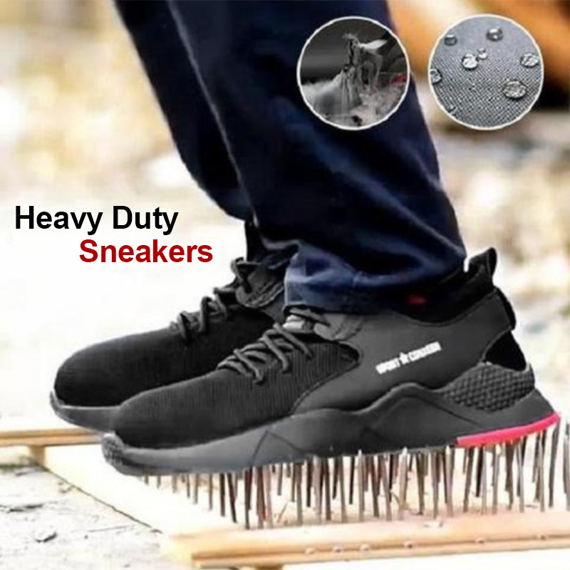 Men's Steel Toe Work Shoes Heavy Duty Sneaker Safety Work Shoes Thick And Soft Bottom Breathable Anti-slip Puncture Proof ALS88