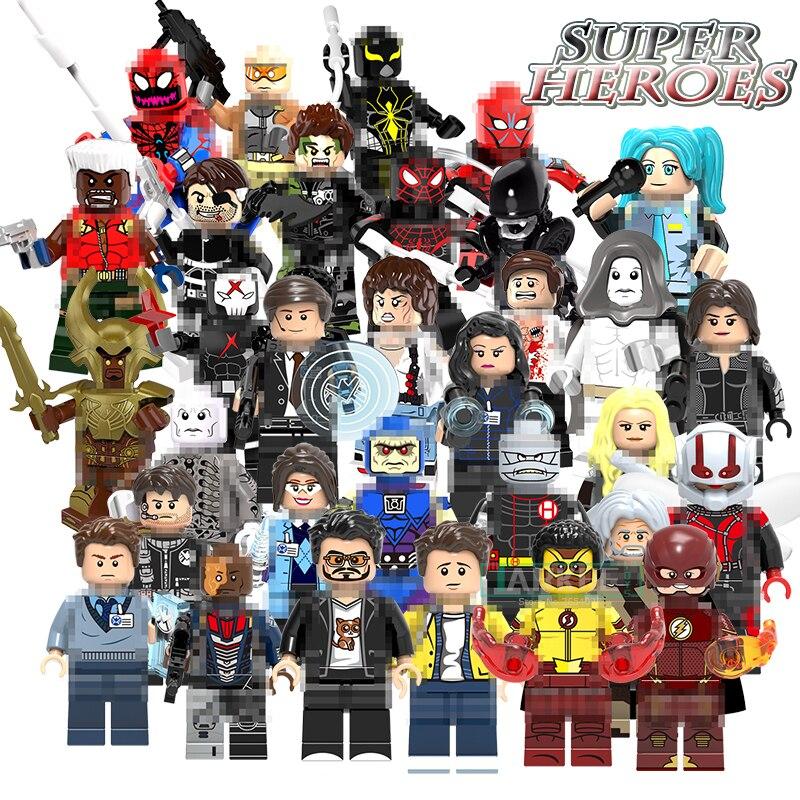 Building Blocks Ultimate Spider-Man Mark 2 Nick Fury G. W. Bridge Carnage Iron Man Tony Figures Wally West Kids DIY Toys Bricks