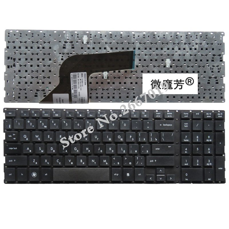 RU Black New Russian  For hp ProBooK 4510s 4515s 4710 4710s 4750S Laptop Keyboard-in Replacement Keyboards from Computer & Office on