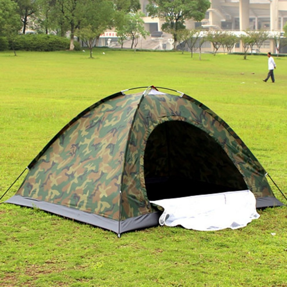 Portable Outdoor Camping Double Persons Tent Waterproof Dirt-proof Camouflage Folding Tent for Travelling Hiking image