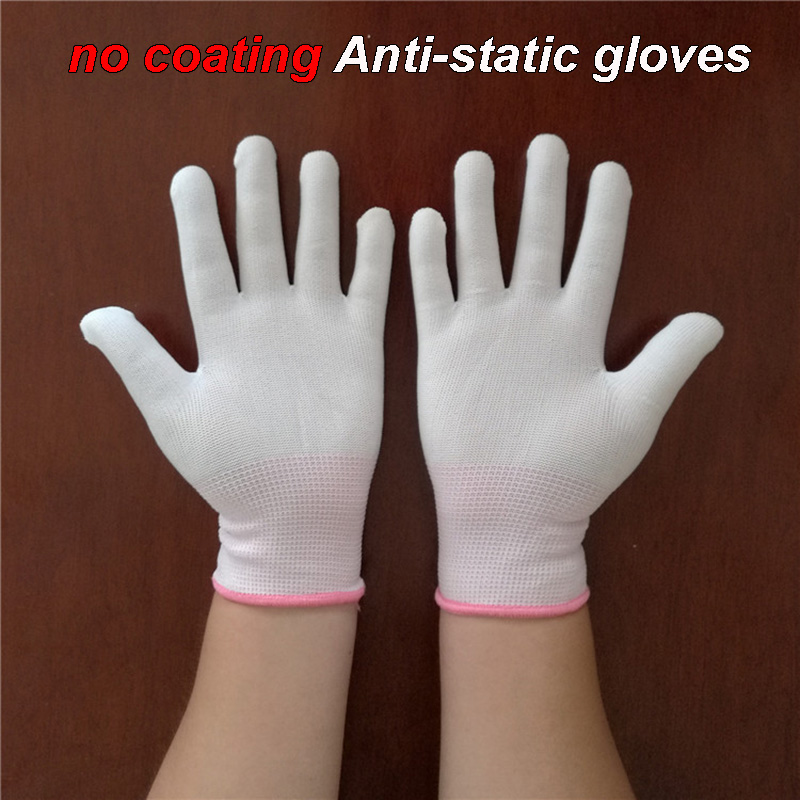 No Coating Anti-static Gloves Basic Paragraph Breathable Non-slip Operating Gloves Dust-free Workshop Anti-static Gloves