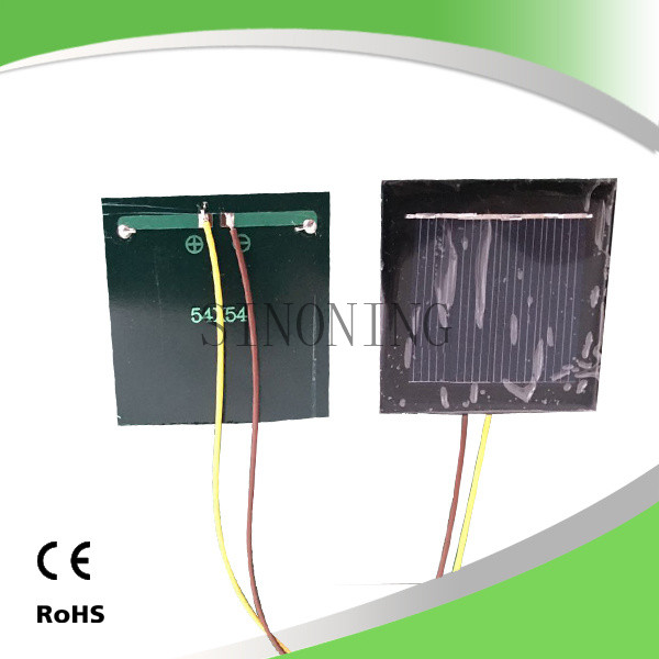 10PC solar cell panel board 54*54 2v 130mA with 15cm wire