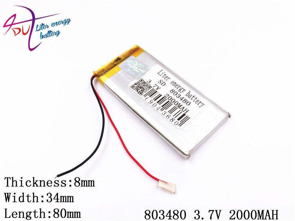 Stromquelle Unterhaltungselektronik Nachdenklich Verkauf Neue Mp3/mp4 Player Yi Bateria Angepasst Kleinste Akku Lithium-polymer 803480 2000 Mah