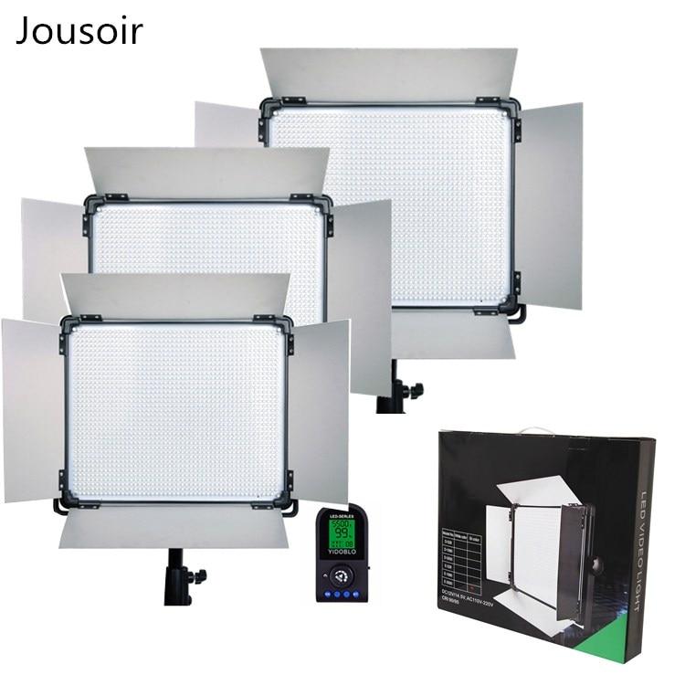 3 * LED lumière vidéo lcd écran RC lampe E-1080II bicolore éclairage LED pour Studio photographie lampe éclairage panneau DMX CD50