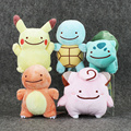 "5 estilos Japón Anime Pikachu Clefairy Bulbasaur Charmander Squirtle Peluches Peluches Peluches Muñecas Para Los Niños 6 ""15 cm"