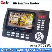 Receptor de TV por satélite de 4.3 Pulgadas Portátil Multifuncional Monitor HD Buscador de Satélite dvb s2